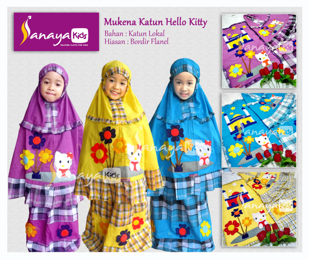 mukena-katun-hello-kitty